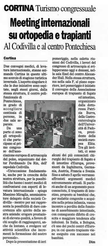Il Gazzettino, 3 aprile 2008