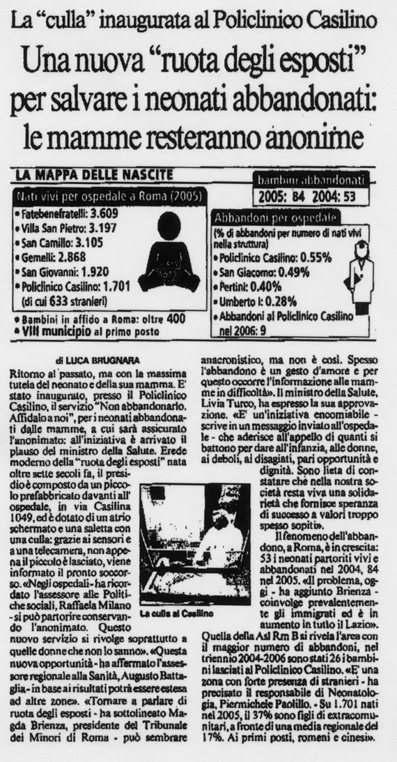 Il Messaggero, 7 dicembre 2006