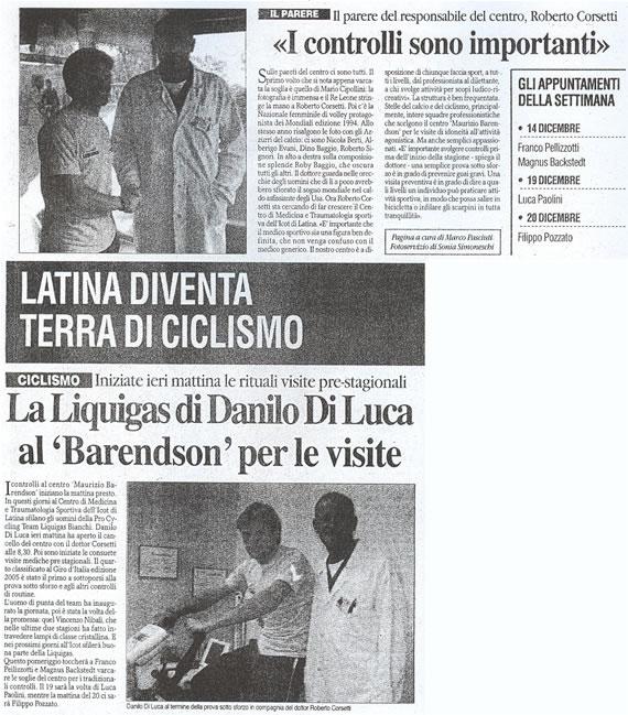 La Provincia, 14 dicembre 2006