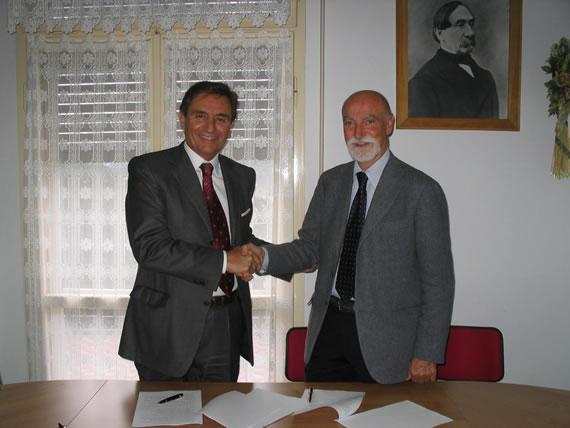 Il Dott. Emmanuel Miraglia con l'Ing. Alberto Vielmo