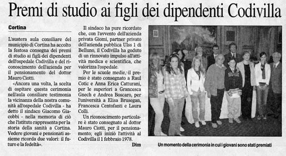 Il Gazzettino, 13 maggio 2007