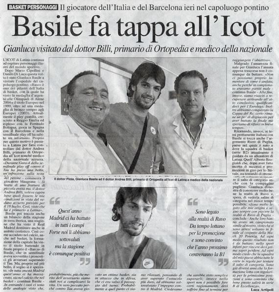 Latina Oggi, sabato 30 giugno 2007