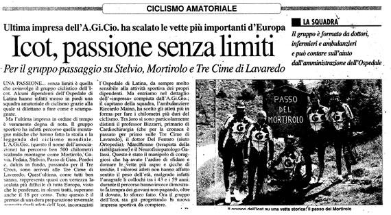 Latina Oggi, 2 luglio 2007