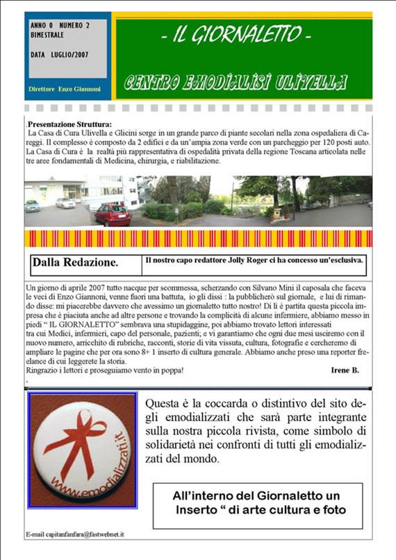 """""""Il Giornaletto"""" numero 1"""