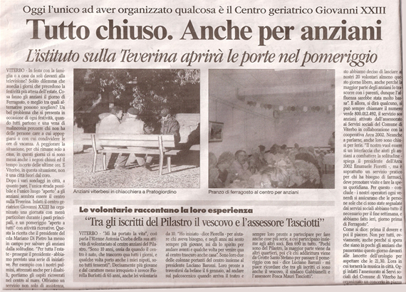 Corriere di Viterbo, 15 agosto 2007