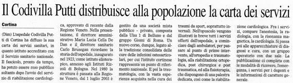 Il Gazzettino, 7 agosto 2007