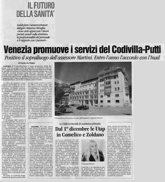 Il Corriere, sabato 27 ottobre 2007