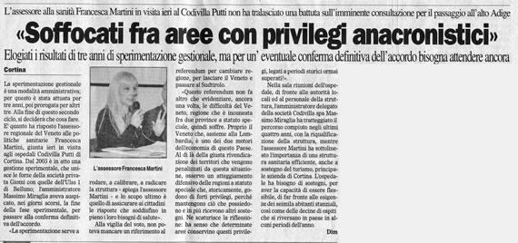 Il Gazzettino, sabato 27 ottobre 2007